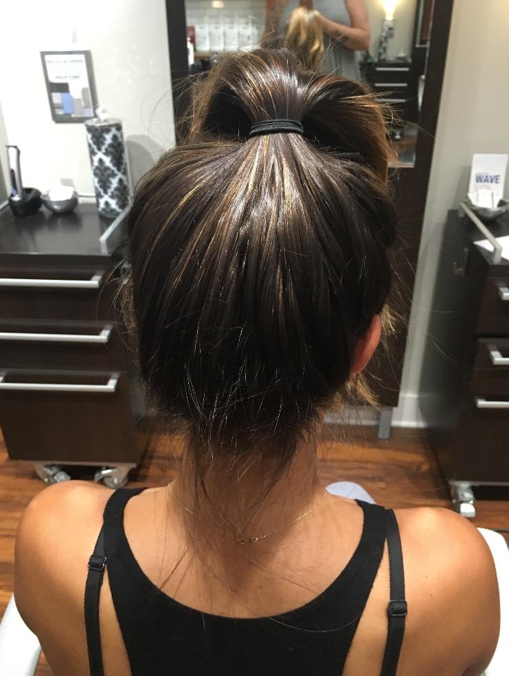 ponytail flip